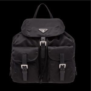 Prada Nylon Black Backpack